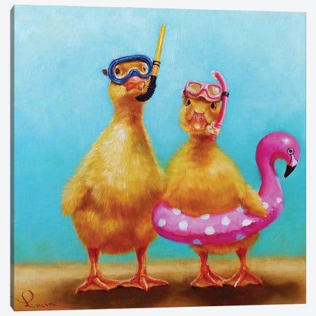 Pool Party Canvas Print #HEF220} by Lucia Heffernan Canvas Art