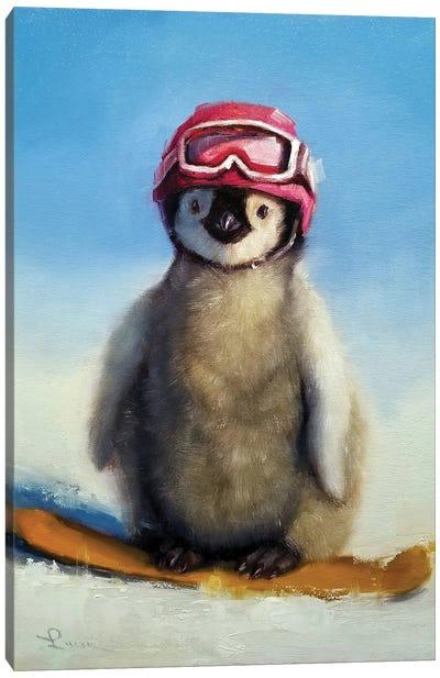 Snowboard Chic Canvas Art Print