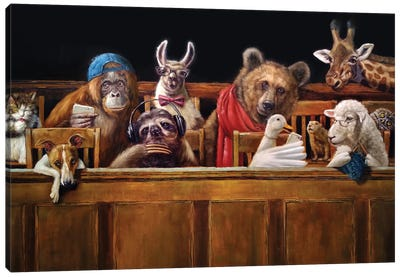 We The Jury Canvas Art Print