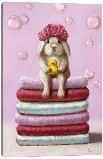 Bath Day Canvas Art Print
