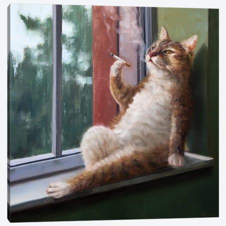 Rainy Day Blues Canvas Print #HEF231} by Lucia Heffernan Canvas Art Print