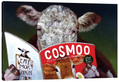 Cow Tips Canvas Print #HEF23