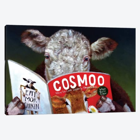 Cow Tips Canvas Print #HEF23} by Lucia Heffernan Canvas Artwork
