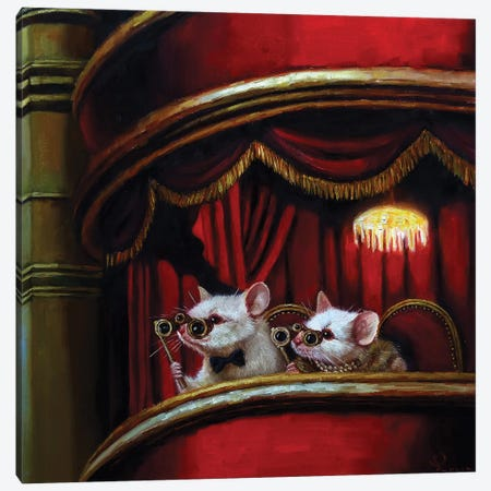 Die Fledermaus Canvas Print #HEF24} by Lucia Heffernan Canvas Art Print