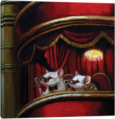 Die Fledermaus Canvas Art Print
