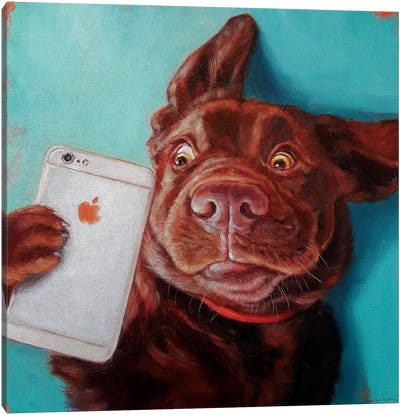 Dog Selfie Canvas Art Print