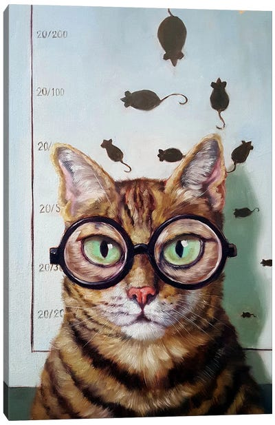 Feline Eye Exam Canvas Art Print