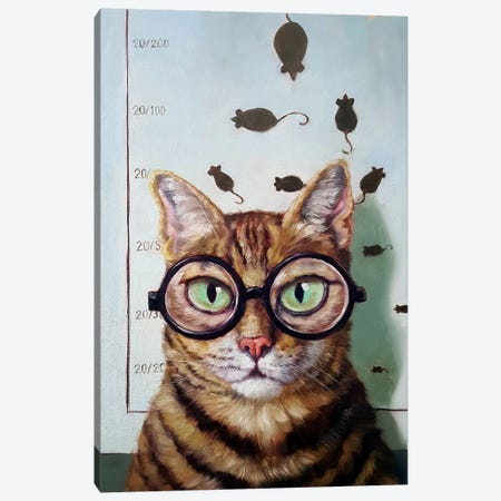 Feline Eye Exam Canvas Print #HEF27} by Lucia Heffernan Canvas Print