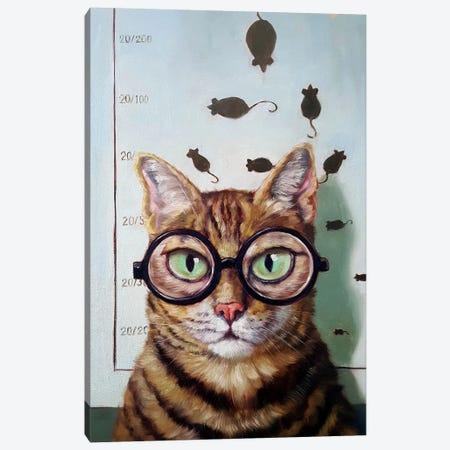 Feline Eye Exam Canvas Print #HEF27} by Lucia Heffernan Canvas Print