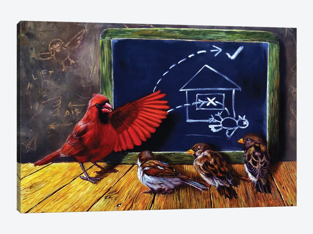 Flight School by Lucia Heffernan 1-piece Canvas Wall Art
