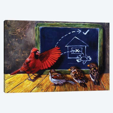 Flight School Canvas Print #HEF28} by Lucia Heffernan Canvas Art