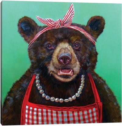 Mama Bear Canvas Art Print