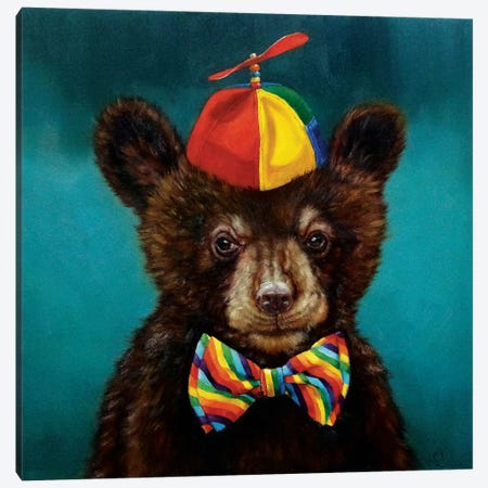 Baby Bear Canvas Print #HEF3} by Lucia Heffernan Canvas Print