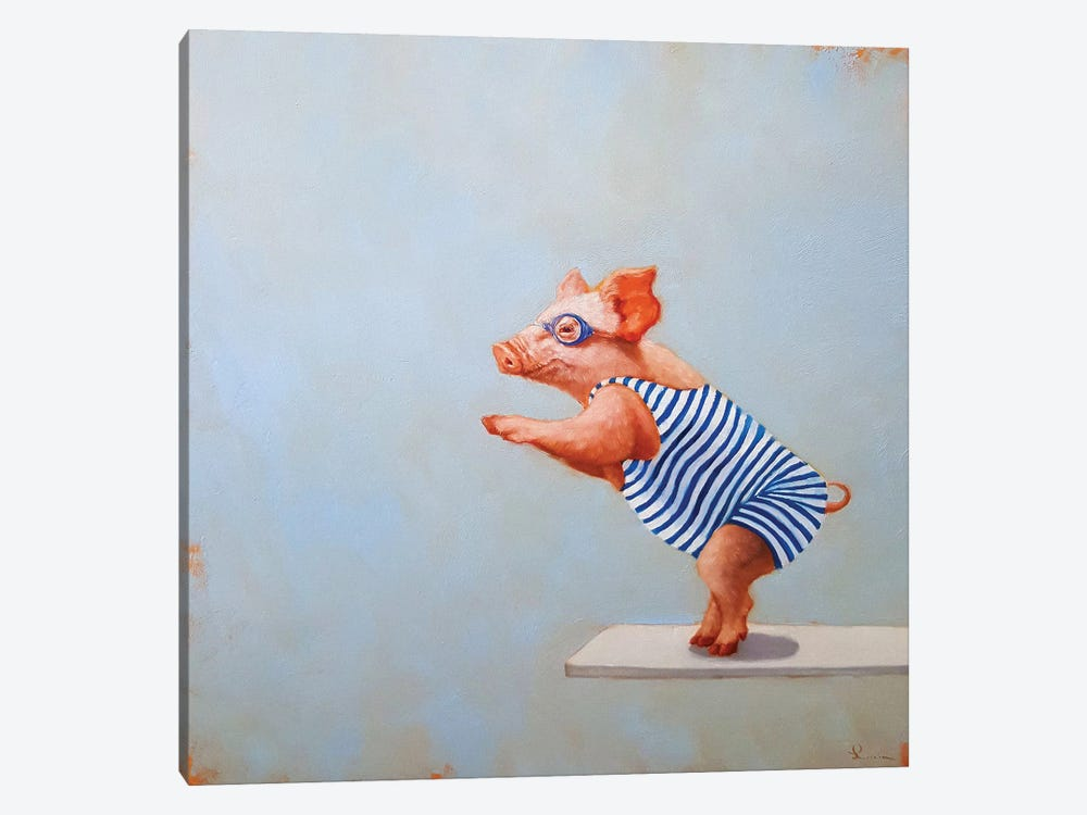 The Plunge by Lucia Heffernan 1-piece Canvas Art