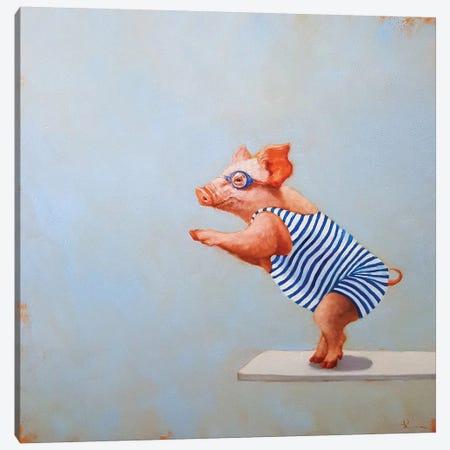 The Plunge Canvas Print #HEF44} by Lucia Heffernan Canvas Art Print