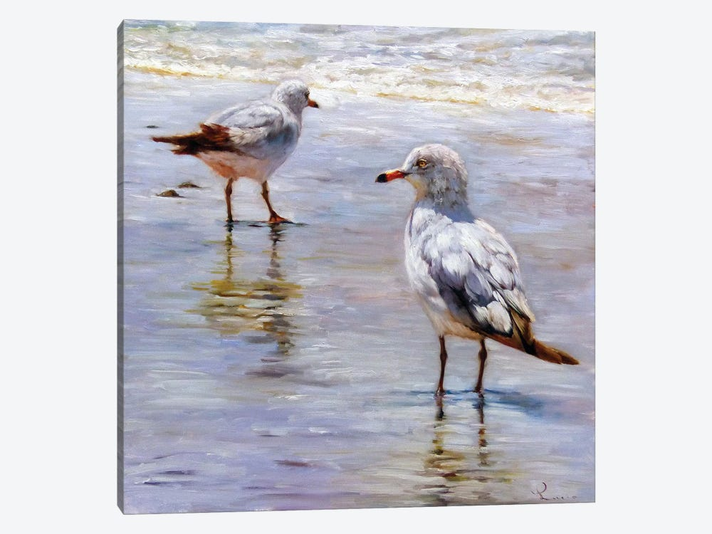 Waders 1-piece Canvas Print
