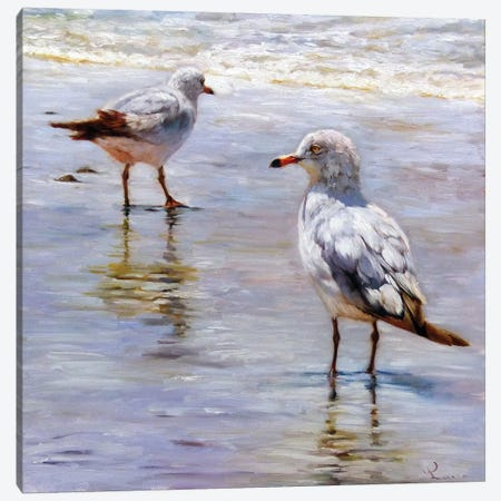 Waders 3-Piece Canvas #HEF45} by Lucia Heffernan Canvas Print