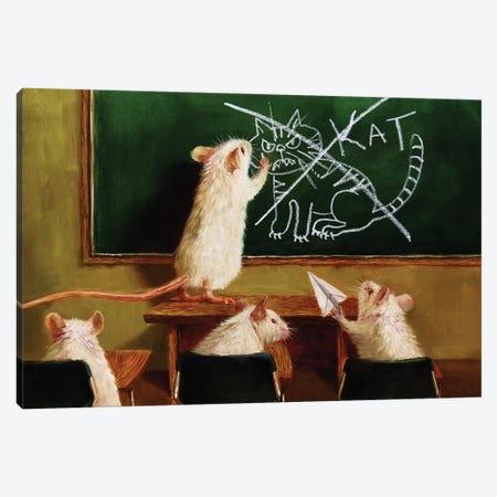 When The Cat Is Away Canvas Print #HEF46} by Lucia Heffernan Canvas Print