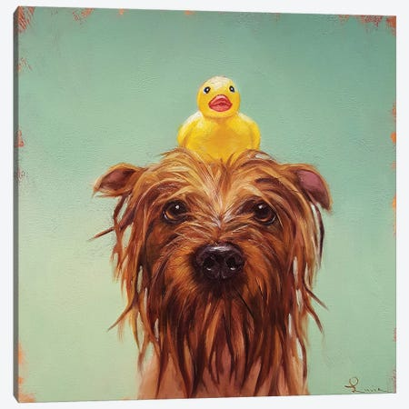 Bath Time Canvas Print #HEF48} by Lucia Heffernan Canvas Artwork