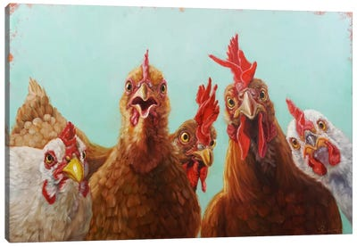 Chicken For Dinner Canvas Art Print
