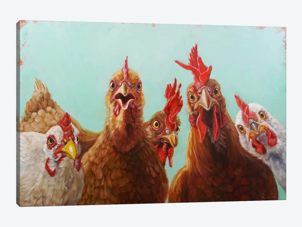 Chicken For Dinner by Lucia Heffernan 1-piece Canvas Art Print