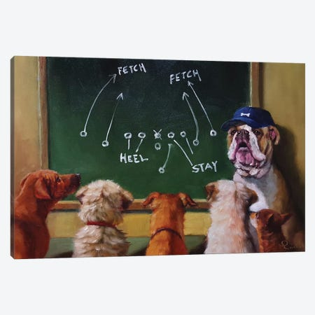 Game Plan Canvas Print #HEF5} by Lucia Heffernan Canvas Artwork