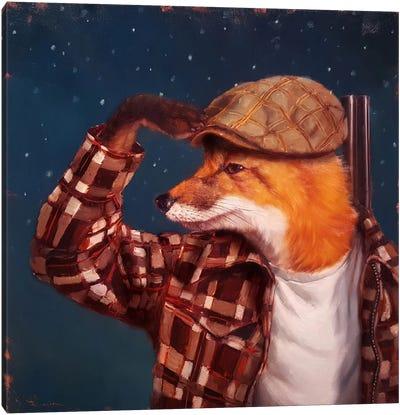 Fox Hunt Canvas Art Print