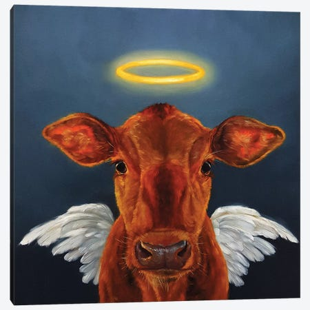 Holy Cow Canvas Print #HEF6} by Lucia Heffernan Canvas Wall Art