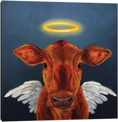 Holy Cow Canvas Print #HEF6