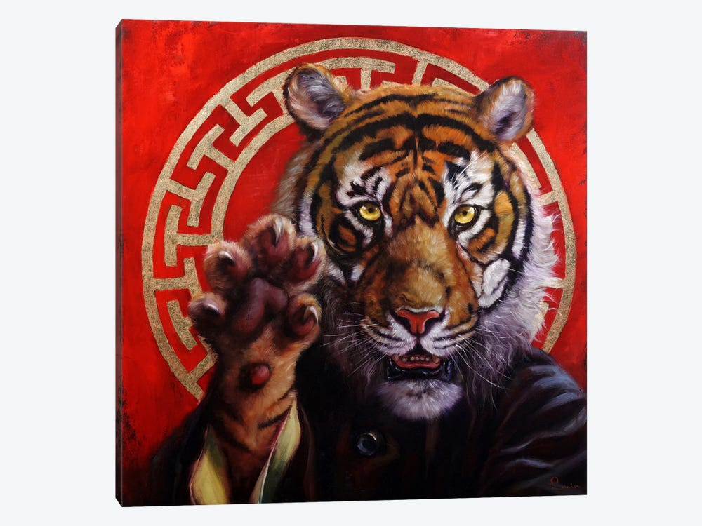 Legend Of Tiger Claw by Lucia Heffernan 1-piece Canvas Print