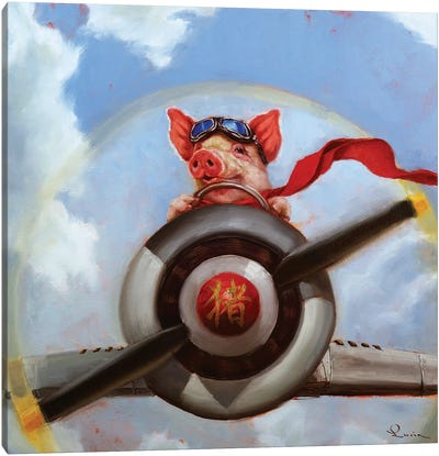 When Pigs Fly Canvas Art Print