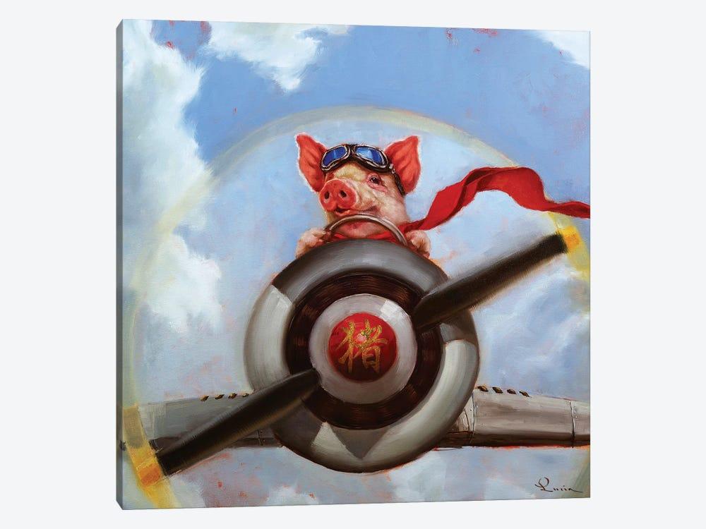 When Pigs Fly by Lucia Heffernan 1-piece Canvas Print