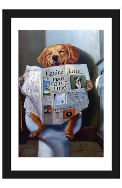 Dog Gone Funny Framed Art Print