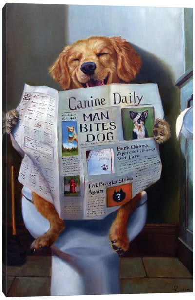 Dog Gone Funny Canvas Art Print