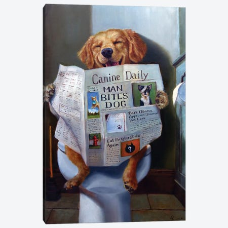 Dog Gone Funny Canvas Print #HEF83} by Lucia Heffernan Canvas Art