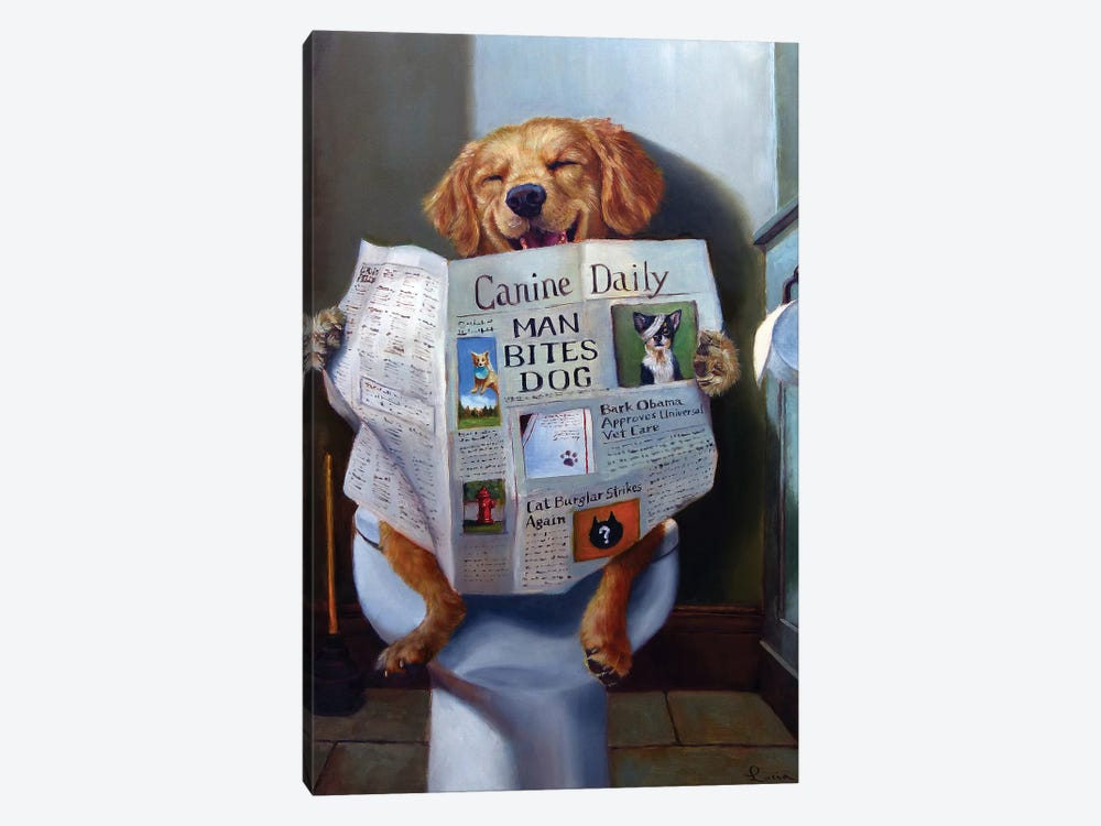 Dog Gone Funny by Lucia Heffernan 1-piece Art Print