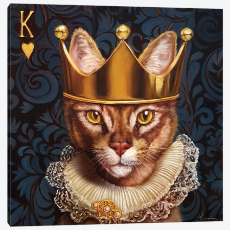 King Of Hearts Canvas Print #HEF88} by Lucia Heffernan Canvas Wall Art