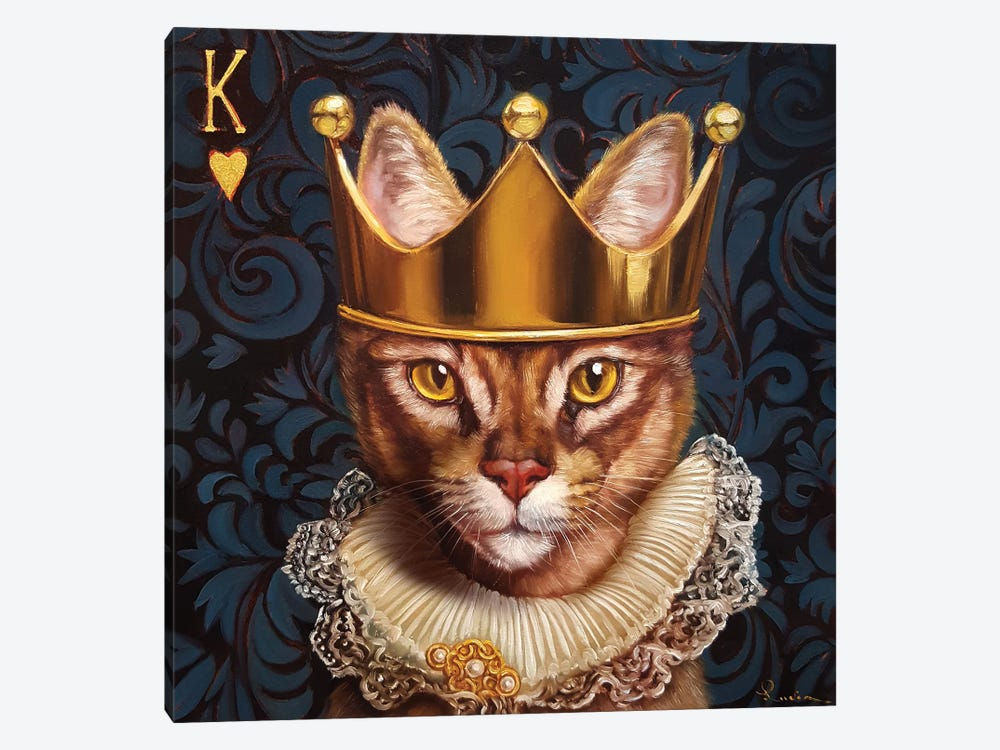 King Of Hearts 1-piece Canvas Art