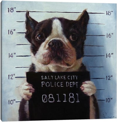 Mug Shot Canvas Art Print