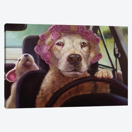 Mommy Chauffeur Canvas Print #HEF90} by Lucia Heffernan Canvas Print