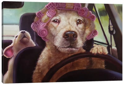 Mommy Chauffeur Canvas Art Print