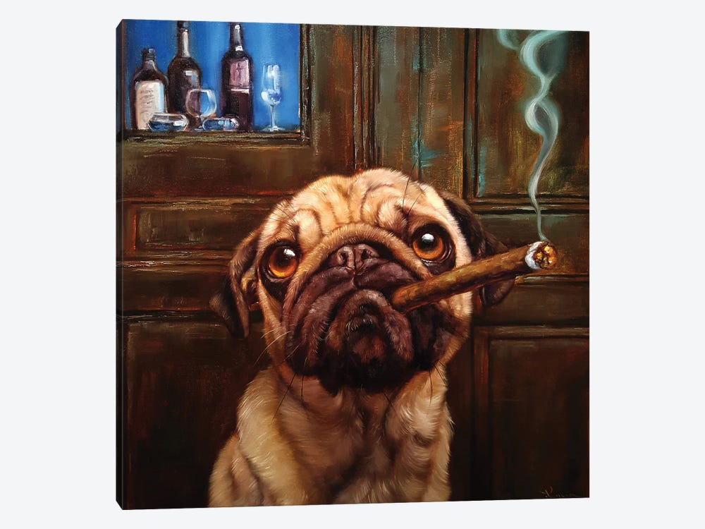 Uptown Pug by Lucia Heffernan 1-piece Art Print