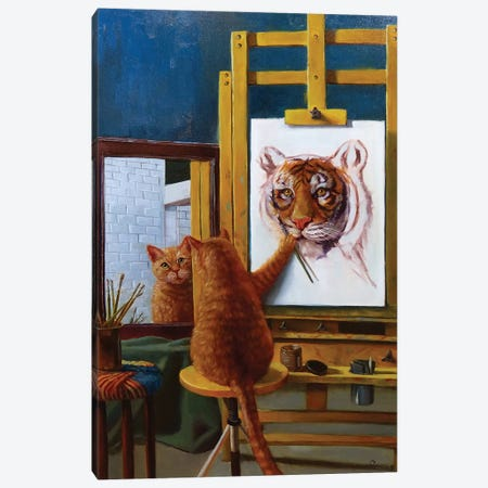Norman Catwell Canvas Print #HEF9} by Lucia Heffernan Art Print