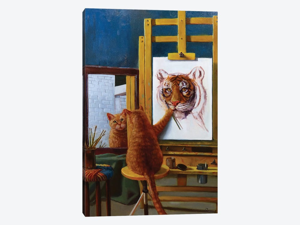 Norman Catwell by Lucia Heffernan 1-piece Canvas Print