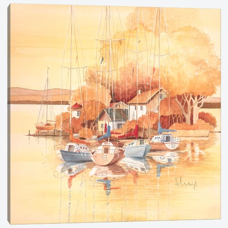 Seaside I Canvas Print #HEI11} by Franz Heigl Canvas Art