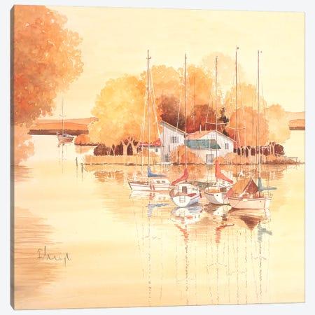 Seaside II Canvas Print #HEI12} by Franz Heigl Canvas Artwork