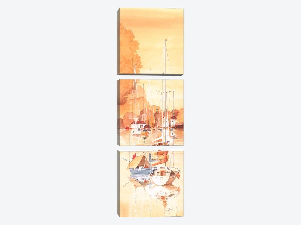 Seaside IV by Franz Heigl 3-piece Canvas Print