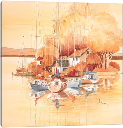 Boats I Canvas Art Print
