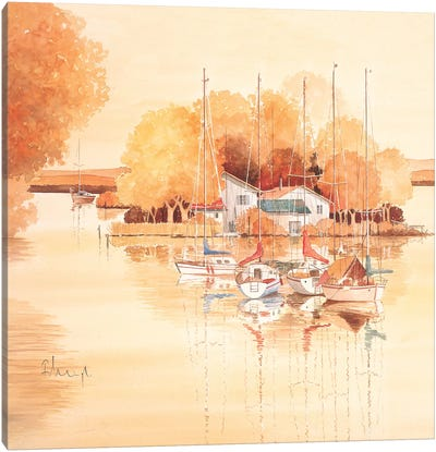Boats II Canvas Art Print