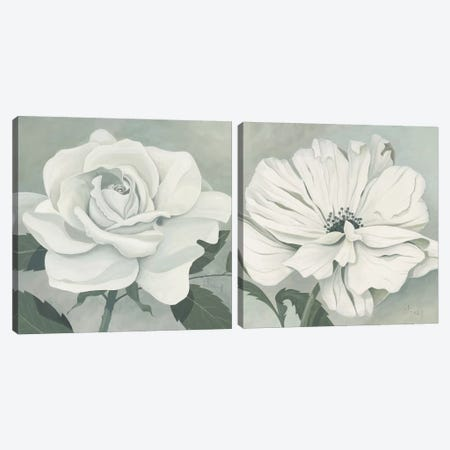Muted Floral Diptych Canvas Print Set #HEI2HSET001} by Franz Heigl Canvas Print
